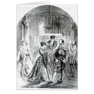 Le mariage privé d'Anne Boleyn Carte De Vœux