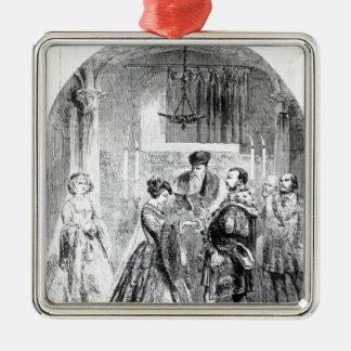 Le mariage privé d'Anne Boleyn Ornement Carré Argenté