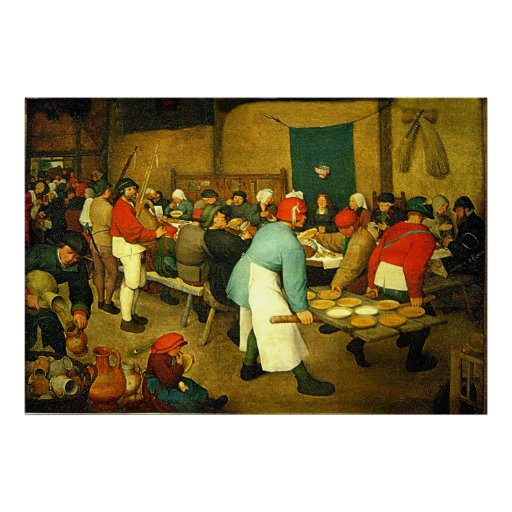 Le mariage rural de Pieter Bruegel (1568) Poster