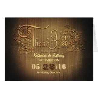 Le mariage rustique de calligraphie de pays vous cartes de vœux