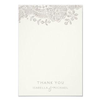 Le mariage rustique de dentelle vintage élégante carton d'invitation 8,89 cm x 12,70 cm