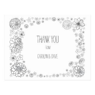 Le mariage rustique vous remercient carte postale,