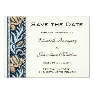 Le mariage vintage, iris de Nouveau d'art fleurit Carton D'invitation 11,43 Cm X 15,87 Cm