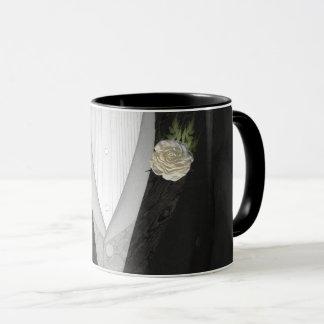 """Le marié """"son"""" mariage (de blanc) tasse"""
