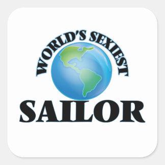Le marin le plus sexy du monde sticker carré