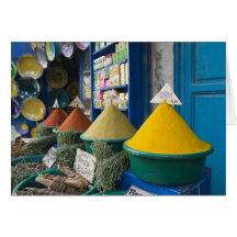 Le MAROC, côte atlantique, ESSAOUIRA : Marché d'ép Carte De Vœux