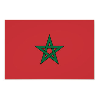 Le Maroc - drapeau marocain Photographie