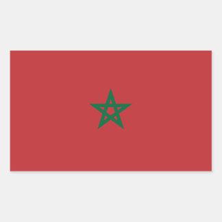 Le Maroc/drapeau marocain Sticker Rectangulaire