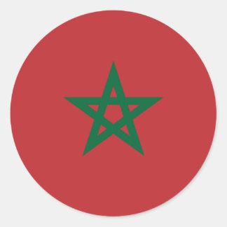 Le Maroc/drapeau marocain Sticker Rond