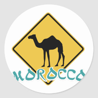 Le Maroc Sticker Rond