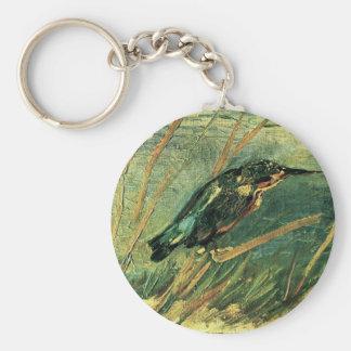 Le martin-pêcheur par Vincent van Gogh Porte-clé Rond