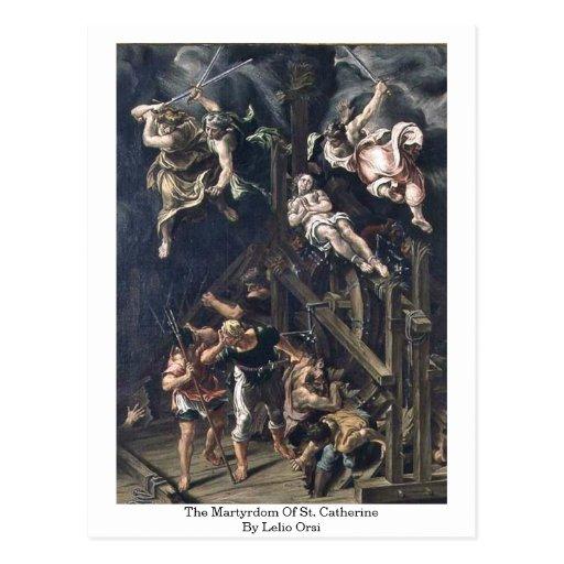 Le martyre de St Catherine par Lelio Orsi Carte Postale