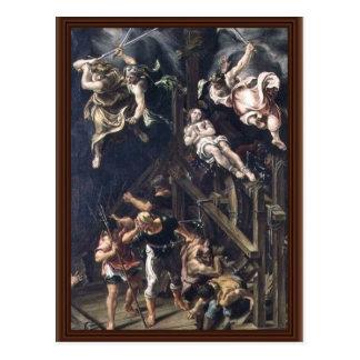 Le martyre de St Catherine par Orsi Lelio (meilleu Cartes Postales