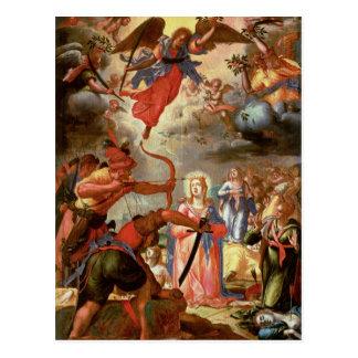 Le martyre de St Ursula, début du 17ème siècle Cartes Postales