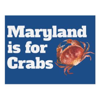 Le Maryland est pour des cartes postales de crabes