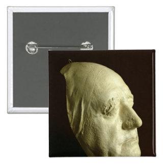 Le masque de Goethe, 1807 Badge Carré 5 Cm