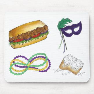Le masque de mardi gras de la Nouvelle-Orléans Tapis De Souris