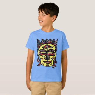 """""""Le masque primitif"""" badine le T-shirt de Hanes"""