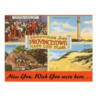 Le Massachusetts Provincetown, Cape Cod Cartes Postales