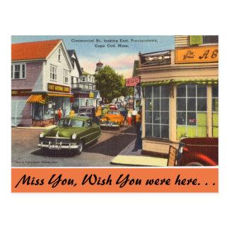 Le Massachusetts, St commercial Provincetown Carte Postale