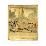 Le massacre de Boston par Paul Revere Carte Postale