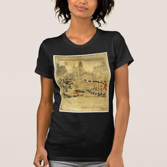 Le massacre de Boston par Paul Revere T-shirt