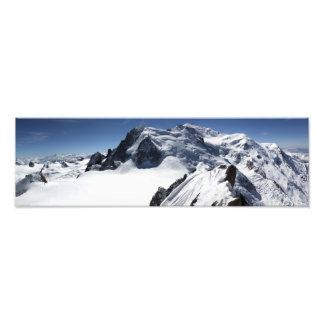 Le massif de Mont Blanc Impression Photographique