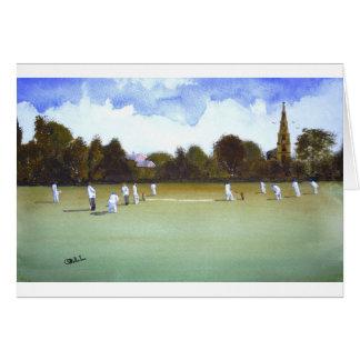 Le match de cricket cartes