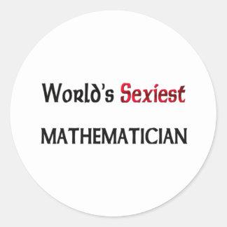 Le mathématicien le plus sexy du monde adhésifs ronds