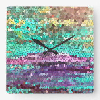 Le matin a l'horloge cassée horloge carrée