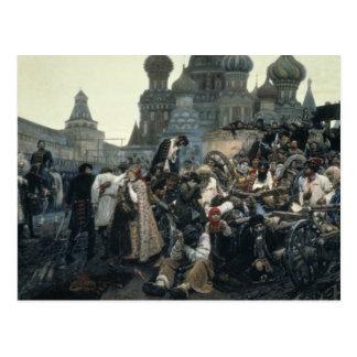 Le matin de l'exécution du Streltsy Carte Postale