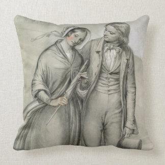 Le matin de mariage - le départ, c.1846 coussin décoratif