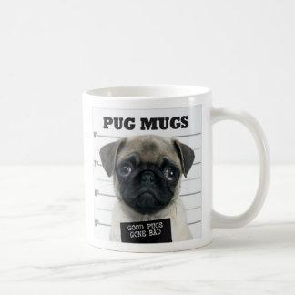 le mauvais de carlin mug blanc