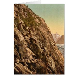 Le Mauvais Pas, vallée de Chamonix, cru pH de la F Carte De Vœux