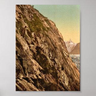 Le Mauvais Pas, vallée de Chamonix, cru pH de la F Poster