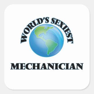 Le mécanicien le plus sexy du monde sticker carré