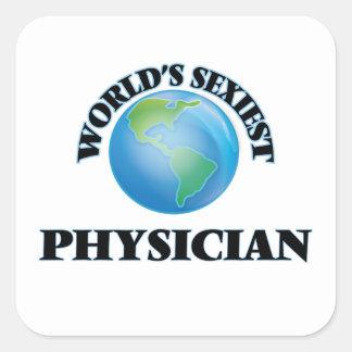 Le médecin le plus sexy du monde stickers carrés