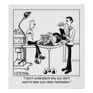 Le médicament quotidien est taille d'une boule de  posters