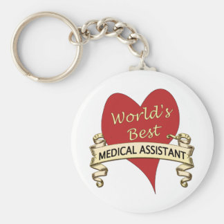 Le meilleur aide médical du monde porte-clé rond