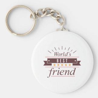 Le meilleur ami du monde porte-clé rond