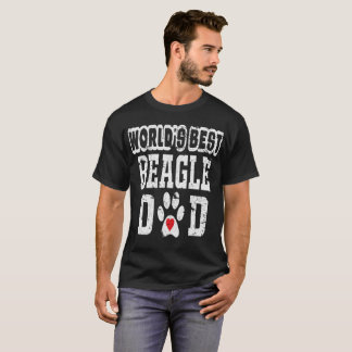 Le meilleur amoureux des chiens de papa du beagle t-shirt