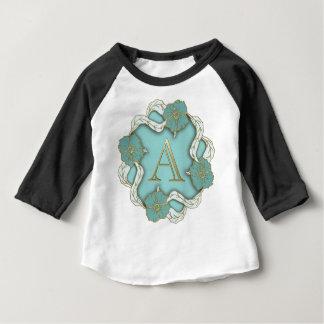 Le meilleur arrière - plan de monogramme t-shirt pour bébé