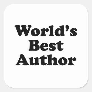 Le meilleur auteur du monde sticker carré