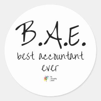 Le meilleur autocollant BAE de comptable jamais