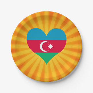 Le meilleur Azerbaïdjan mignon de vente Assiette En Papier 17,8 Cm