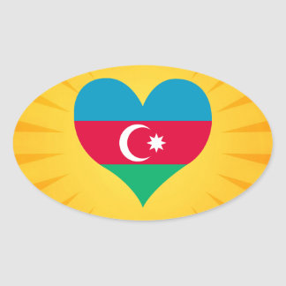 Le meilleur Azerbaïdjan mignon de vente Sticker Ovale