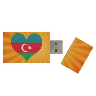 Le meilleur Azerbaïdjan mignon de vente Clé USB 2.0 En Bois