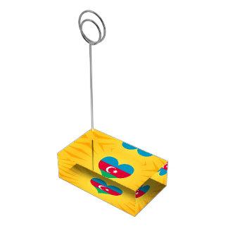 Le meilleur Azerbaïdjan mignon de vente Porte-carte De Table
