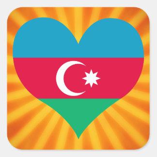 Le meilleur Azerbaïdjan mignon de vente Sticker Carré