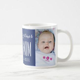 Le meilleur bleu de tasse de Noël de maman de